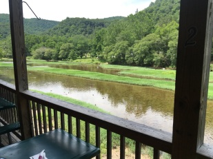 Lunch by the trout stream- Greenbrier Grille